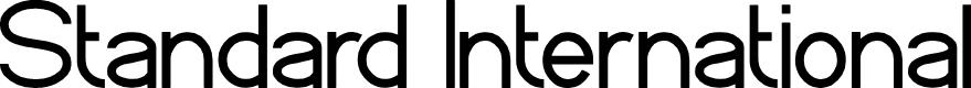 Preview image for Standard International Font