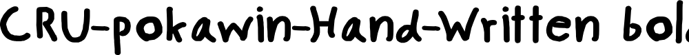 Preview image for CRU-pokawin-Hand-Written bold