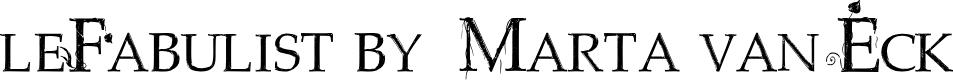Preview image for leFabulist by  Marta van Eck Font