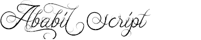 Preview image for Ababil Script DEMO Font