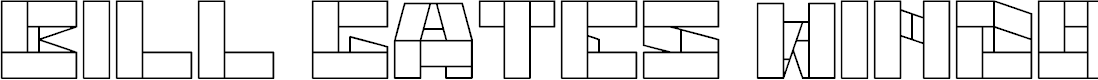 Preview image for BILL GATES WINDOWS Font