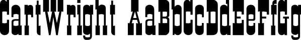 Preview image for CartWright Font