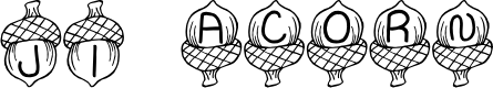 Preview image for JI Acorn Font