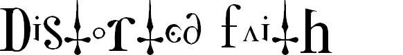 Preview image for Distorted Faith Font