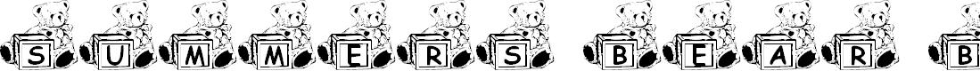 Preview image for Summer's Bear Blocks Font