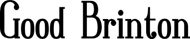 Preview image for Good Brinton Font