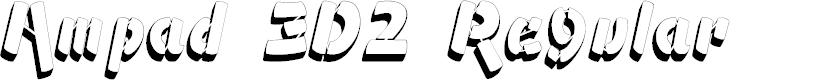 Preview image for Ampad 3D2 Regular Font