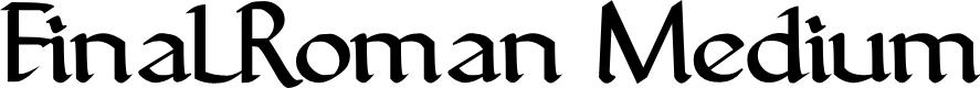Preview image for FinalRoman Medium Font