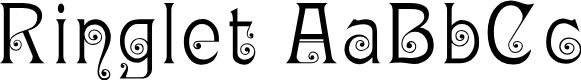 Preview image for Ringlet Font