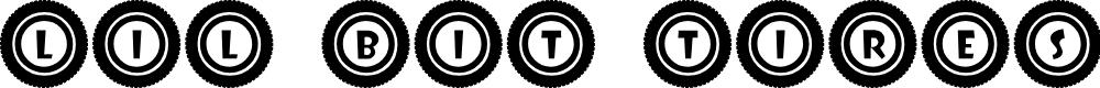 Preview image for JLR Li'l Bit Tires Font