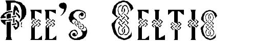 Preview image for Pee's Celtic Plain Font