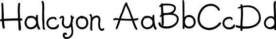 Preview image for Halcyon Font