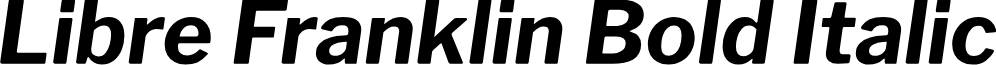 Libre Franklin Bold Italic