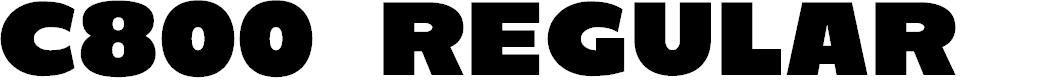 Preview image for C800 Regular Font