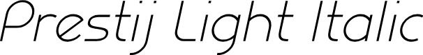 Preview image for Prestij Demo Light Italic