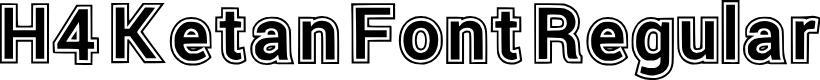 Preview image for H4 Ketan Font Regular Font
