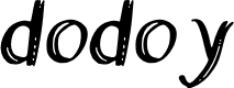 Preview image for dodoy Font