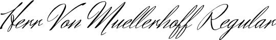 Preview image for Herr Von Muellerhoff Regular Font