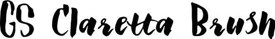 Preview image for GS Claretta Brush Font