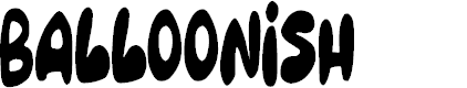 Preview image for Balloonish Font
