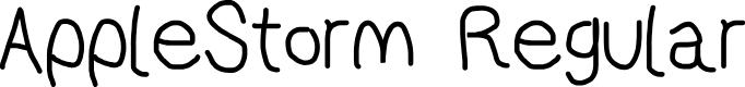 Preview image for AppleStorm Regular