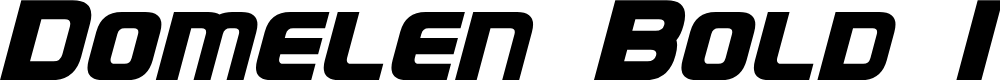 Preview image for Domelen Bold Italic