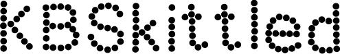Preview image for KBSkittled Font