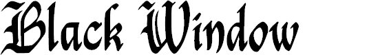 Preview image for Black Window Font