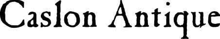 Preview image for Caslon Antique Font