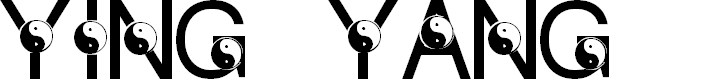 Preview image for LMS Ying & Yang Font