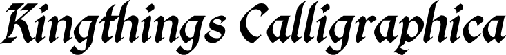 Preview image for Kingthings Calligraphica Italic