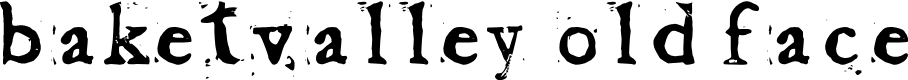 Preview image for Baketvalley Old Face Font