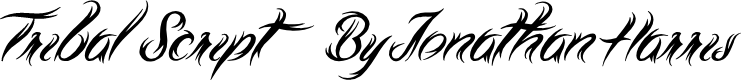 Preview image for Tribal Script Font