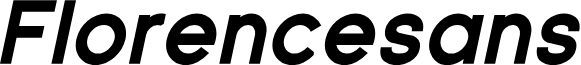 Florencesans Black Italic