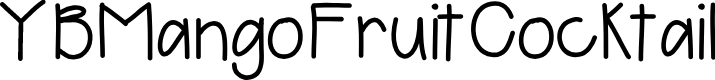 Preview image for YBMangoFruitCocktail Font