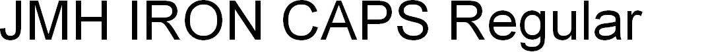 Preview image for JMH IRON CAPS Regular Font