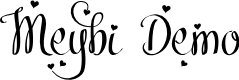Preview image for Meybi Demo Font
