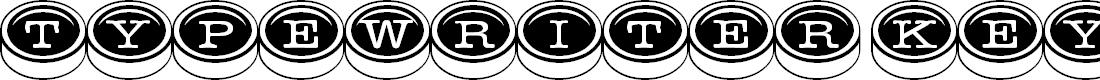 Preview image for TypewriterKeys Font