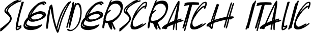 Slenderscratch Italic