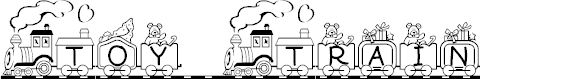 Preview image for Toy Train Font