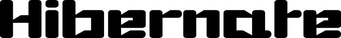 Preview image for Hibernate Font
