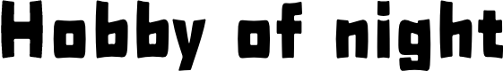 Preview image for H0bbyofnight Font