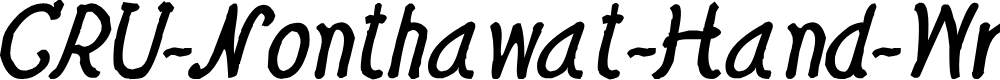 Preview image for CRU-Nonthawat-Hand-Written Bold-Italic