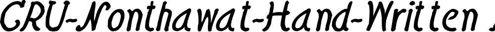 CRU-Nonthawat-Hand-Written Bold-Italic