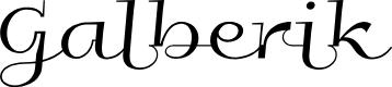 Preview image for Galberik Font