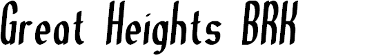 Preview image for Great Heights BRK Font