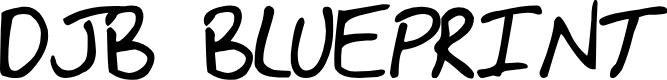 Preview image for DJB BLUEPRINT Font