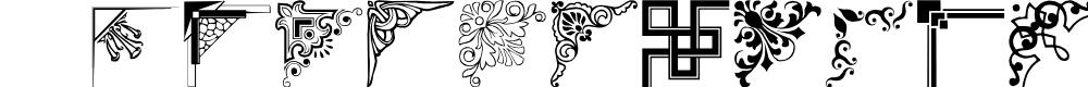 Preview image for Vintage Decorative Corner_39 Font