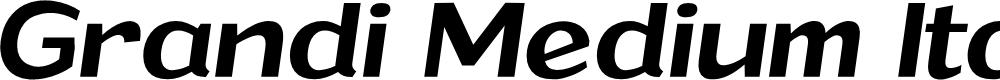 Preview image for Grandi PERSONAL USE Medium Italic