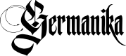 Preview image for Germanika Personal Use Regular Font